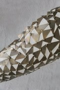 wandhängende Skulptur aus Stahlblech