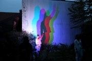 farbige Schatten - Lichtspiel im weißen Garten in Haldensleben